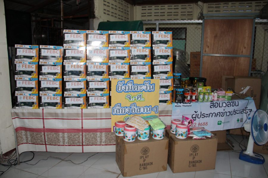 Some of the 6,000 radios that were raised through your support!